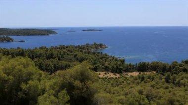 Beautiful coast of the peninsula Sithonia. Northern Greece. — Video Stock