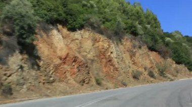 Travel the roads of Sithonia peninsula. Northern Greece. — Stock Video
