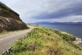 Road along the Atlantic coast. — Stock Photo