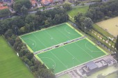Sports complex with fields for games. — Stock Photo