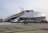 Fisht Olympic Stadium is being reconstructed. — Stock Photo