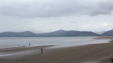 Atlantik Okyanusu üzerinde Beach. — Stok video