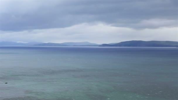 Hermosos paisajes sobre el océano Atlántico. — Vídeo de stock