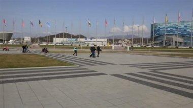 Panorama di Medal Plaza nel Parco Olimpico — Video Stock