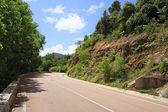 New road around the hotel Raffles Praslin Seychelles. — Stock Photo