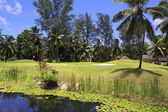 Lake on golf course at the Constance Lemuria Resort. — Stock Photo