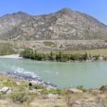 Beautiful panorama summer mountain river Katun. — Stock Photo #80629112