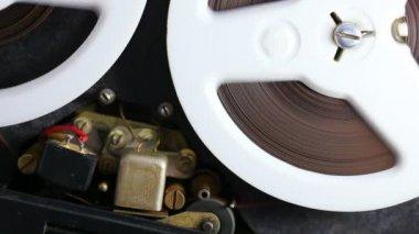 Audio tape recorder — Stock Video