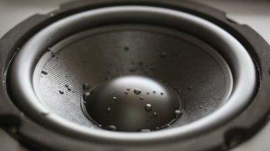 Thumping Bass audio speaker — Stock Video