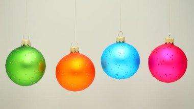 Spinning Christmas Balls — Stock Video