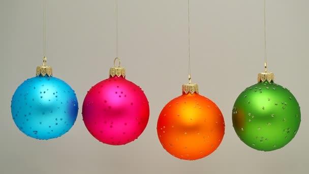 Spinning Christmas Balls — Vidéo