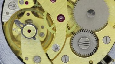 Watch gears very close up — Stock Video