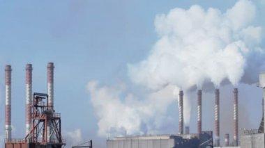 промышленные смога — Стоковое видео