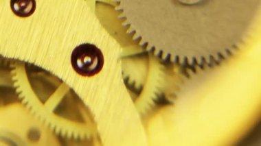 Working clock mechanism — Stock Video