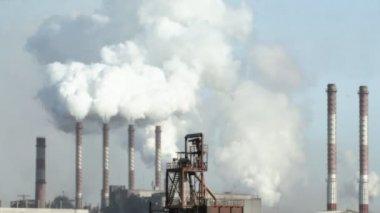 Industrial smog — Stock Video