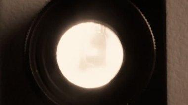 Film projector lens — Stock Video