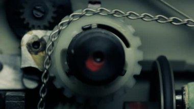 Film projector mechanism. — Stock Video