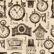 Hand drawn clocks and watches — ストックベクタ #51955653