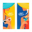 Set of summer banners — Stock Vector