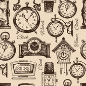 Hand drawn clocks and watches — Stockvector