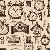 Hand drawn clocks and watches — Stock Vector