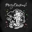 Christmas background with hand drawn sketch illustration. — Stock Vector #56711461