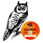 Halloween background. Typographic poster. — Stock Vector #56711523
