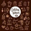 Sketch doodle coffee icon set. — Stock Vector #56711711