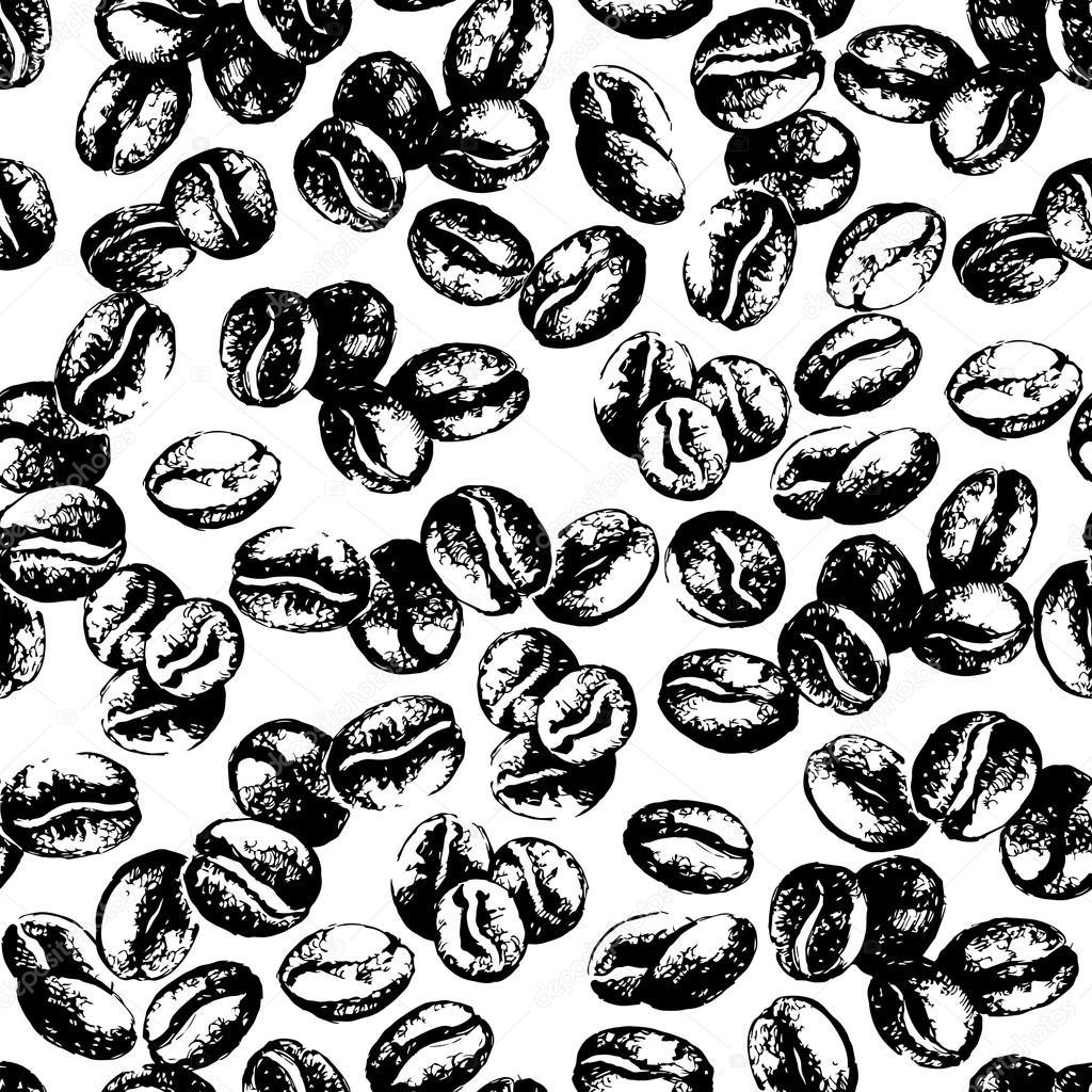 Coffee Bean Drawing Vintage Coffee Beans