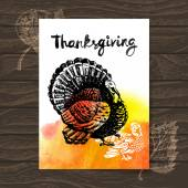 Thanksgiving Day card. — Stock Vector