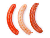 Various grilled sausages — Stock Photo