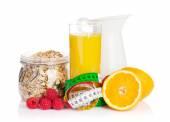 Healthy breakfast with muesli — Stock Photo
