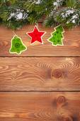Christmas fir tree with holiday decor — Photo