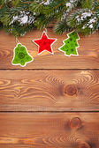 Christmas fir tree with holiday decor — Stock Photo