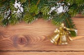 Christmas fir tree with decor — Stok fotoğraf