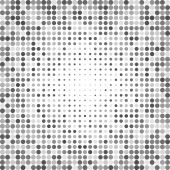 Dotted grayscale background — Stock Vector