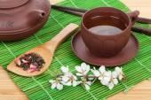 Japanese green tea — Stock Photo