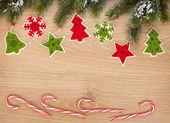 Christmas fir tree, candy — Stock Photo