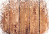 Old wood texture with snow — Foto de Stock