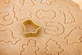 Gingerbread dough for christmas cookies — Stock Photo