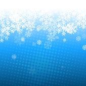 Abstrakta blå och vit jul bakgrund — Stockvektor