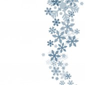 Abstract blue christmas snowflakes — Stock Vector