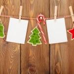 Photo frames and Christmas decor — Stock Photo #57722955