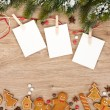 Blank Christmas photo frames — Stock Photo #57722983