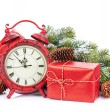 Gift boxes and clock — Stock Photo #58273067