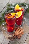 Christmas mulled wine — Stock Photo