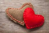 Valentines day toy hearts — Stock Photo