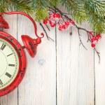 Fir tree and alarm clock — Stock Photo #58859789