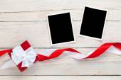 Photo frames and gift box — Foto Stock