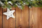 Christmas fir tree and star shape decor — Stock Photo